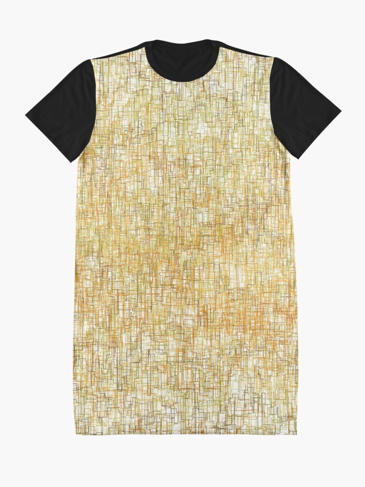 Alternate view of Squiggly Lines Graphic T-Shirt Dress