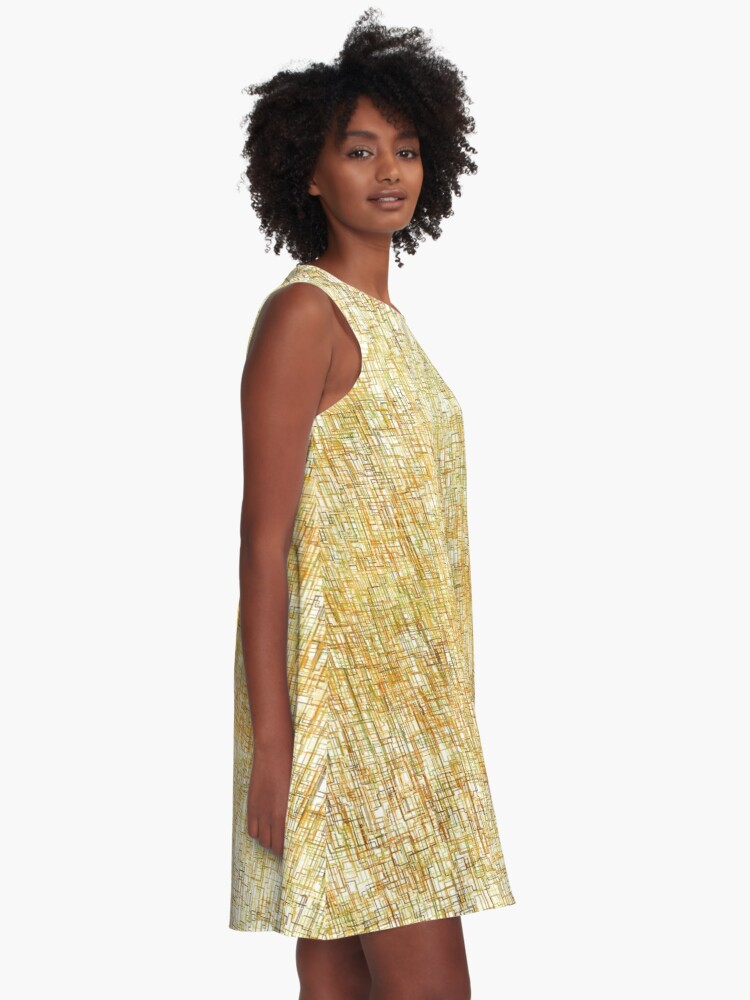 Alternate view of Squiggly Lines A-Line Dress