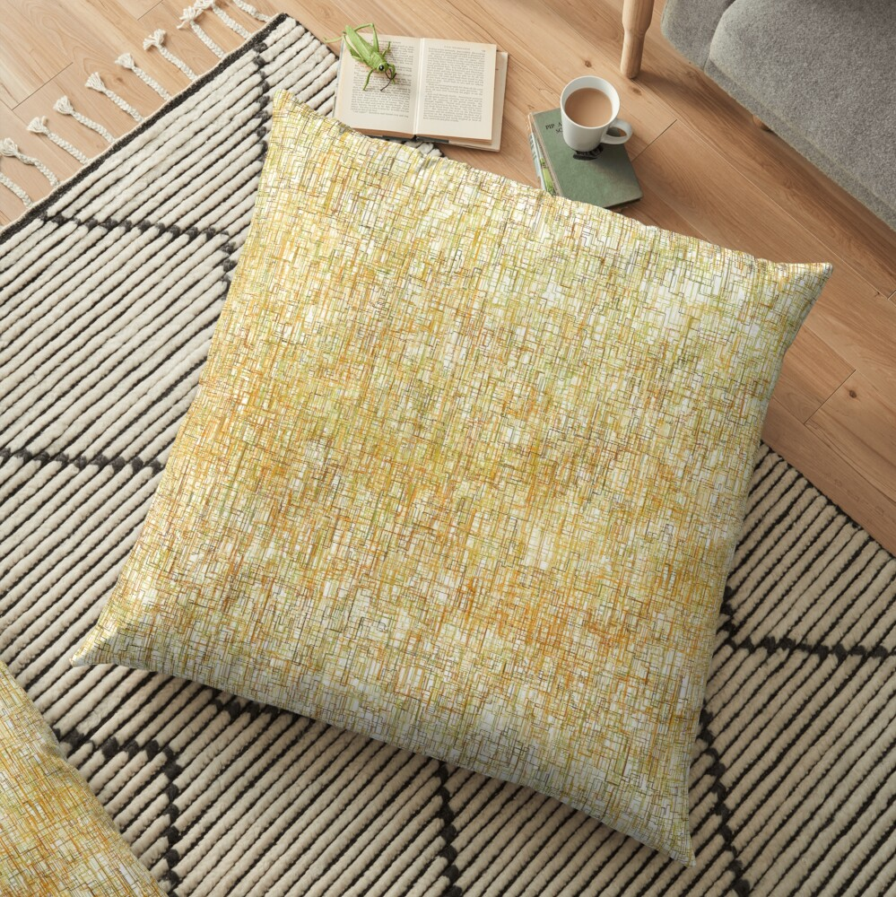 Squiggly Lines Floor Pillow