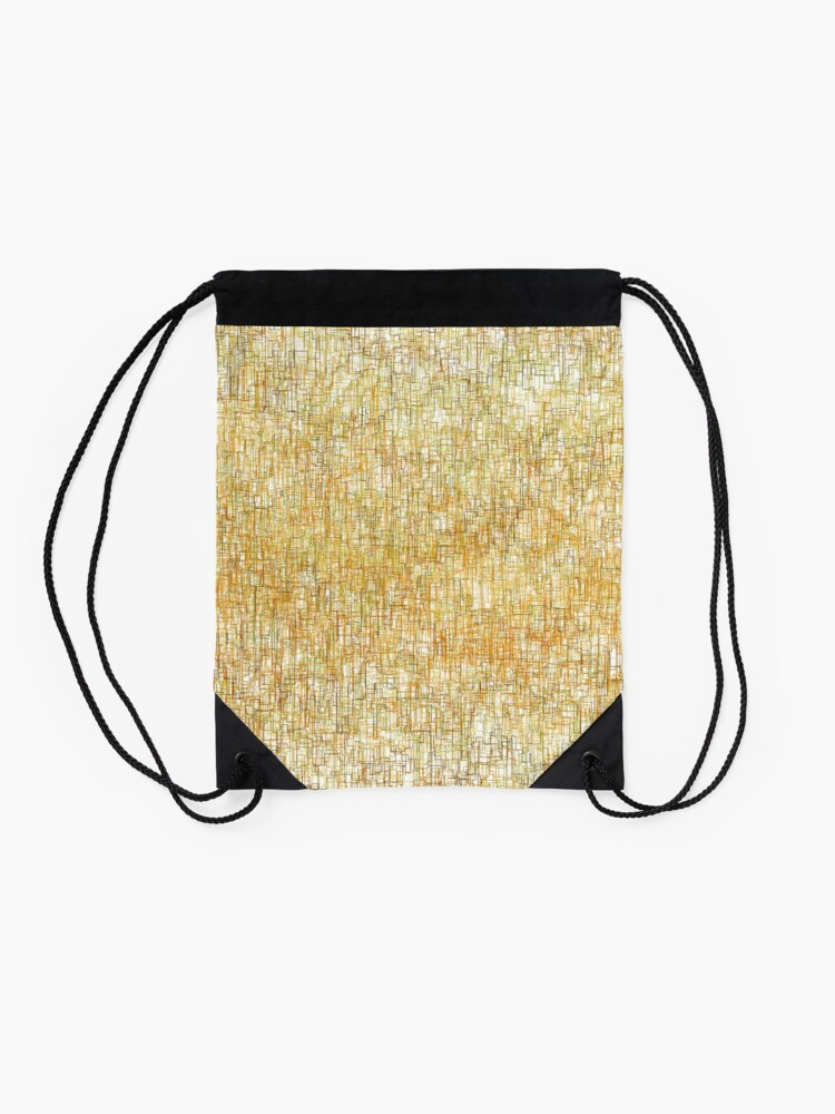 Alternate view of Squiggly Lines Drawstring Bag