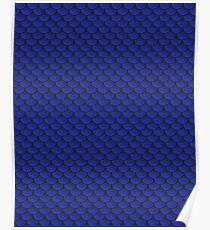 Scalemail Blue Poster