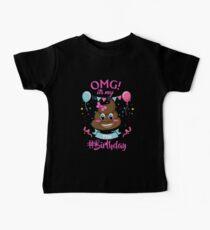 7th Birthday Girl - Poop Emoji Baby Tee
