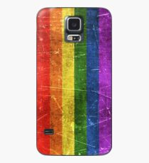 Vintage Aged and Scratched Rainbow Gay Pride Flag Case/Skin for Samsung Galaxy