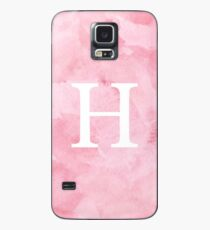 Pink Watercolor Η Case/Skin for Samsung Galaxy