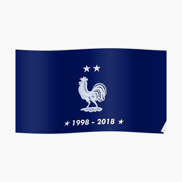 F/éd/ération Fran/çaise de Football Magnet FFF Champions du Monde 1998-2018