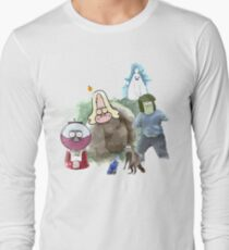 The Regular Show Characters Half Realistic Long Sleeve T-Shirt