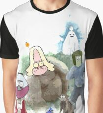 The Regular Show Characters Half Realistic Graphic T-Shirt