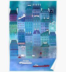 Paris Blues Painting Poster