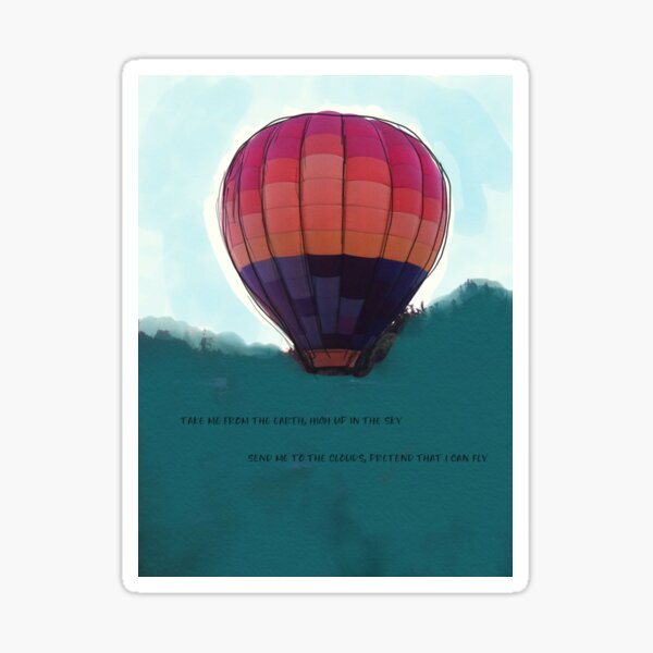 Balloon in the Sky Sticker