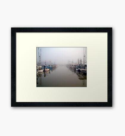 The Fleet In Fog Framed Print