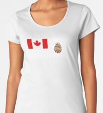 Flag of Canadian Armed Forces  Women's Premium T-Shirt