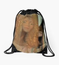 Charming doll Drawstring Bag