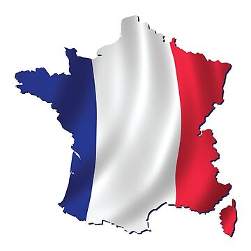 FRENCH MAP AND FLAG by Madjack66