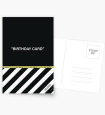 Off-White Greeting Birthday Card Postcards