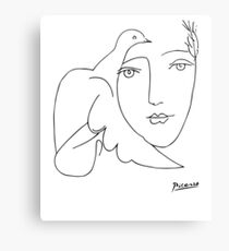 8dba10b44 Pablo Picasso Peace (Dove and Face) T Shirt, Sketch Artwork Canvas Print
