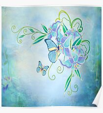 Blue Butterfly! SALE! Poster