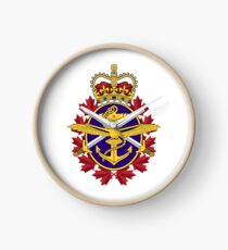 Badge of Canadian Armed Forces Clock