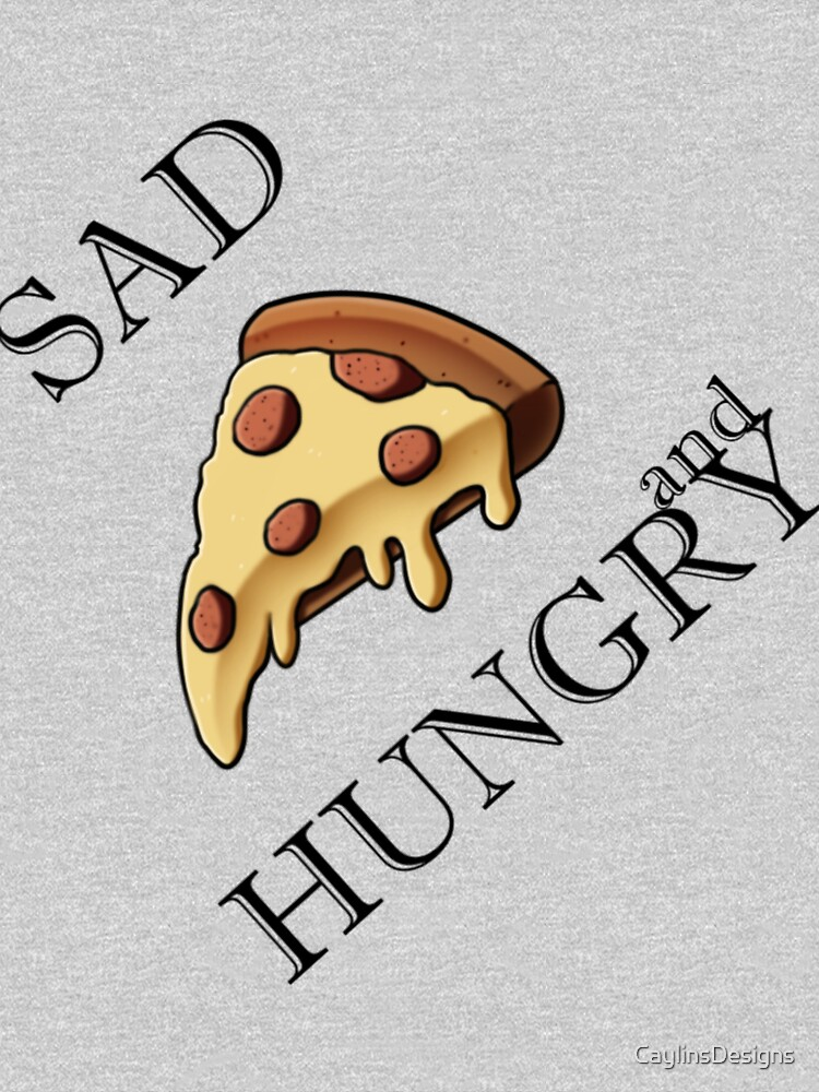 Sad and Hungry Pizza by CaylinsDesigns