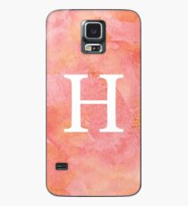 Peach Watercolor Η Case/Skin for Samsung Galaxy
