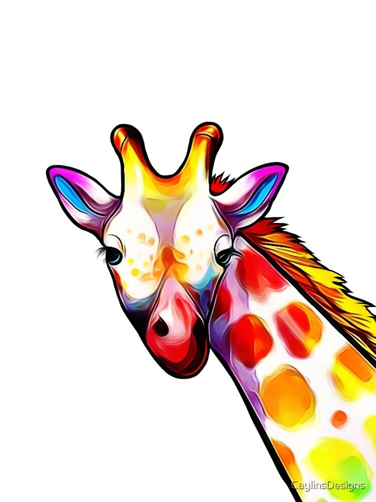 Colorful Giraffe by CaylinsDesigns