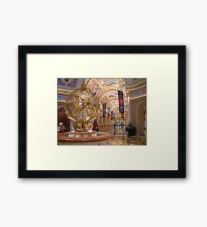Lobby Of The Venetian Hotel Framed Print