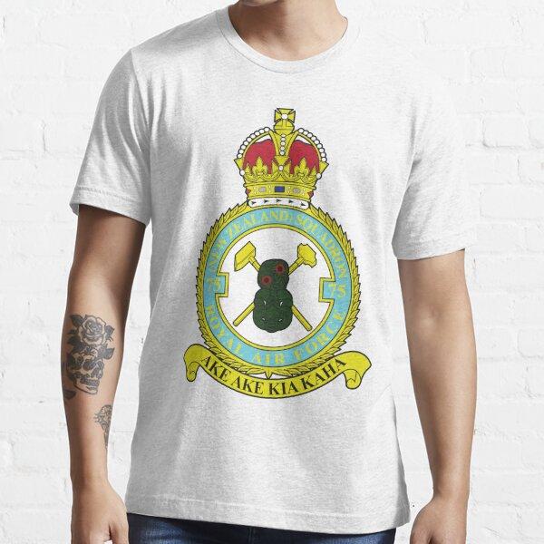 75(NZ) Squadron RAF Full Colour crest Essential T-Shirt