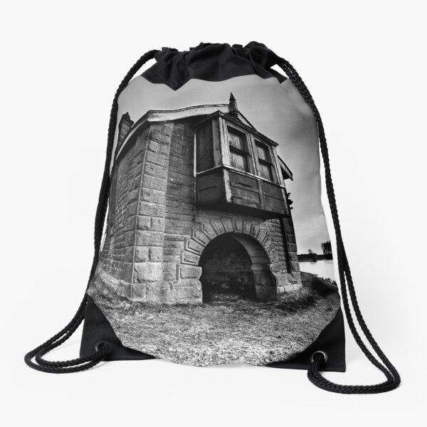 Boat house Drawstring Bag