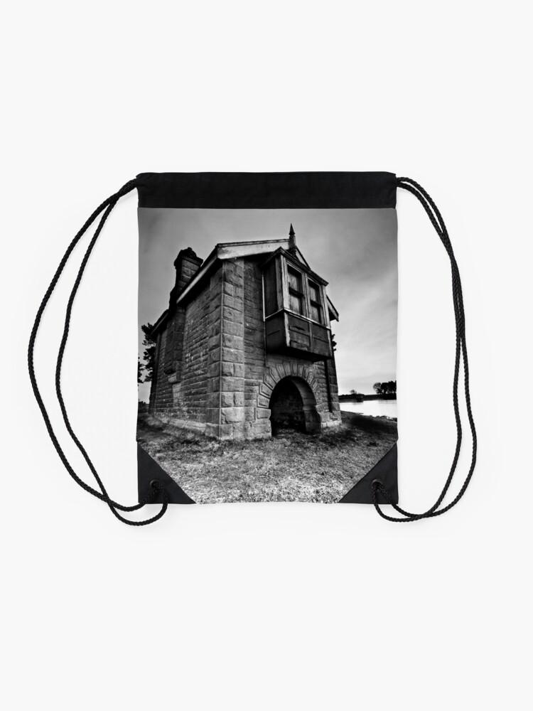 Alternate view of Boat house Drawstring Bag