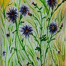 Purple Weeds-Flowers on the Dirt Road by Anne Gitto
