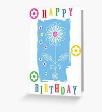 Flower Power Birthday  card Greeting Card