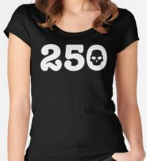 250 Skull Women's Fitted Scoop T-Shirt
