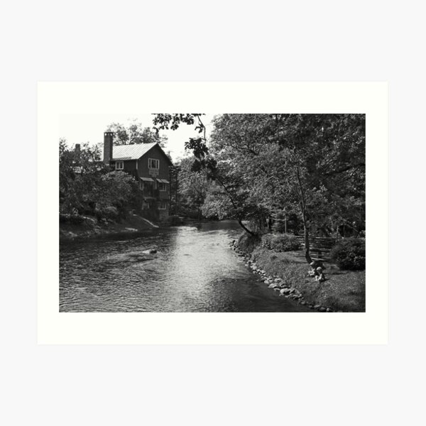 a place to relax B&W Art Print