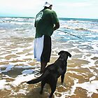 A Dog & His Best Friend Fishing by Heather Friedman