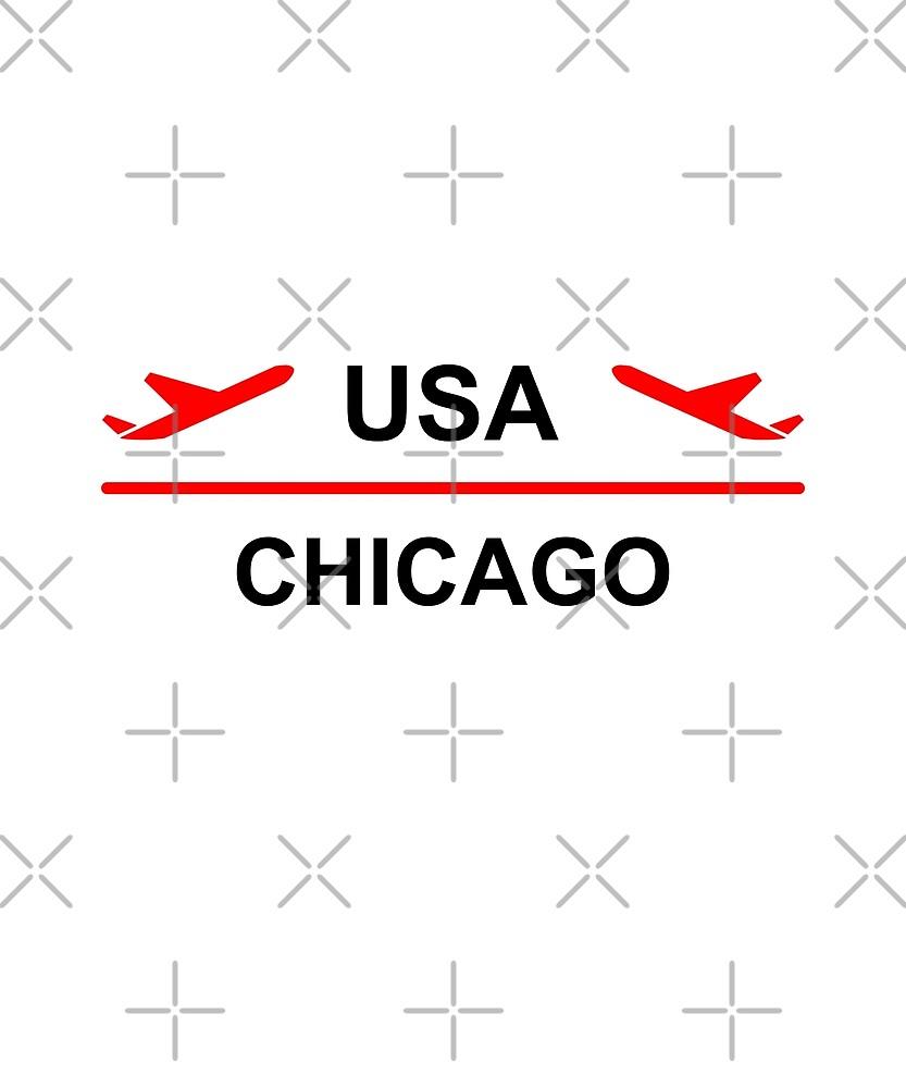Chicago USA Airport Plant Light-Color by TinyStarAmerica