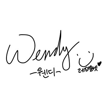 RED VELVET - WENDY SIGN (AUTOGRAPH) by Red-One48