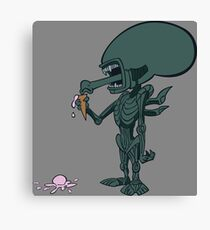 Alien - In Space, No One Can Hear Ice Cream Canvas Print