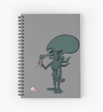 Alien - In Space, No One Can Hear Ice Cream Spiral Notebook