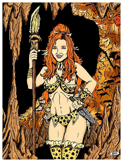 Cave-Girl Pin-Up by ZugArt