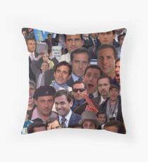 Michael Scott Collage Throw Pillow