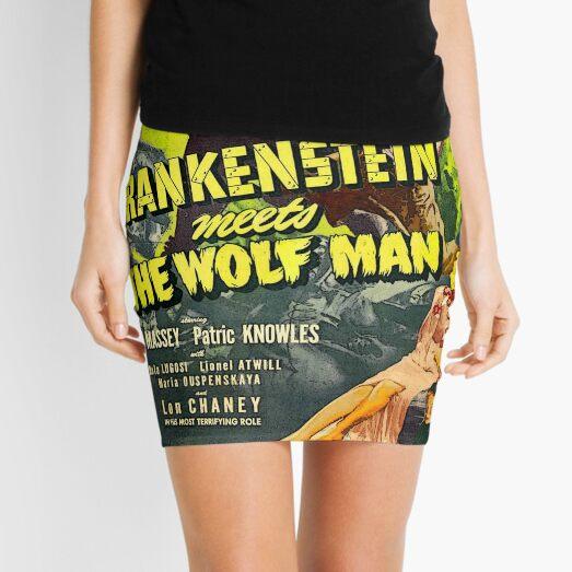 FRANKENSTEIN MONSTER VS THE WOLFMAN Mini Skirt
