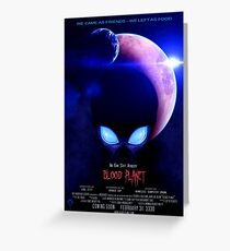 Blood Planet - Mock Movie Poster Greeting Card