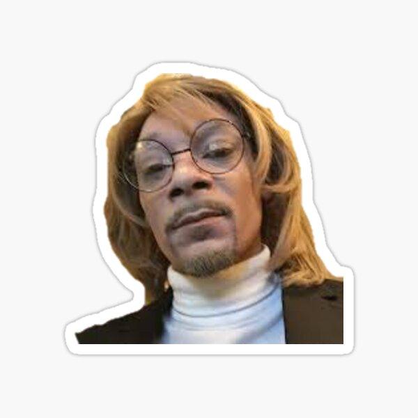 Snoop Dog in wig Sticker