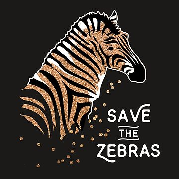 Save The Zebras. Artsy Zebra Portrait Illustration. Safari Gift. by STYLESYNDIKAT