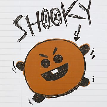 BTS - BT21 - SHOOKY doodle note by Red-One48