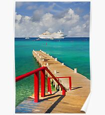 Cayman Islands cruise ship dock Poster