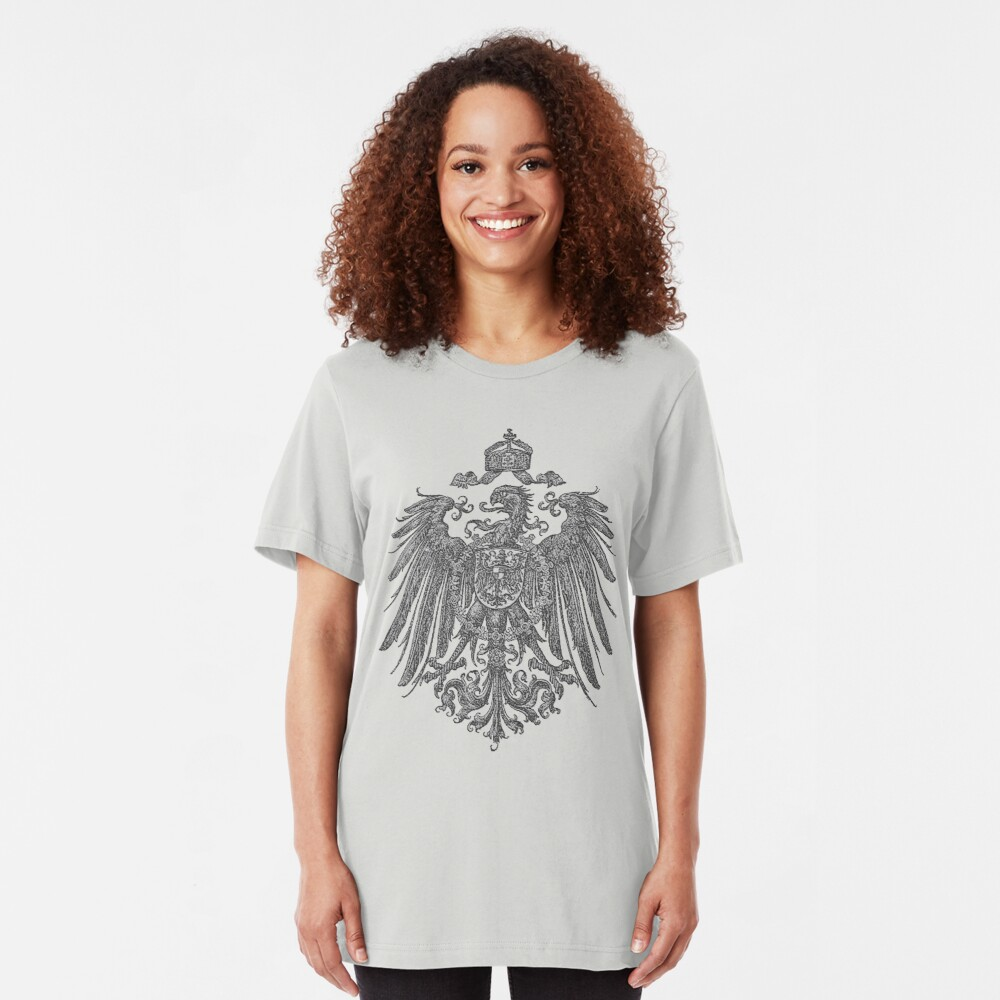 German Heritage, 1888 Feathered Reich Eagle Slim Fit T-Shirt