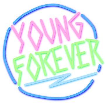 signo de neón para siempre joven de emilyg22