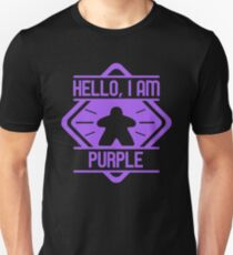 Hello I am Purple Meeple Board Games Addict Unisex T-Shirt