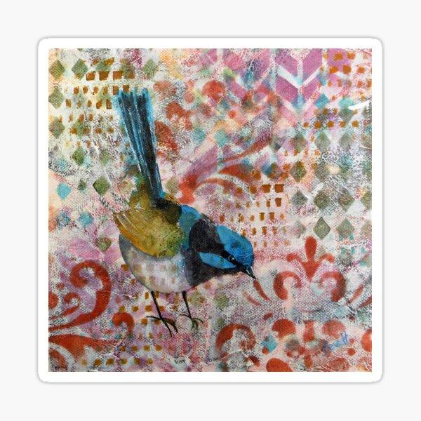 Superb Blue Wren Sticker