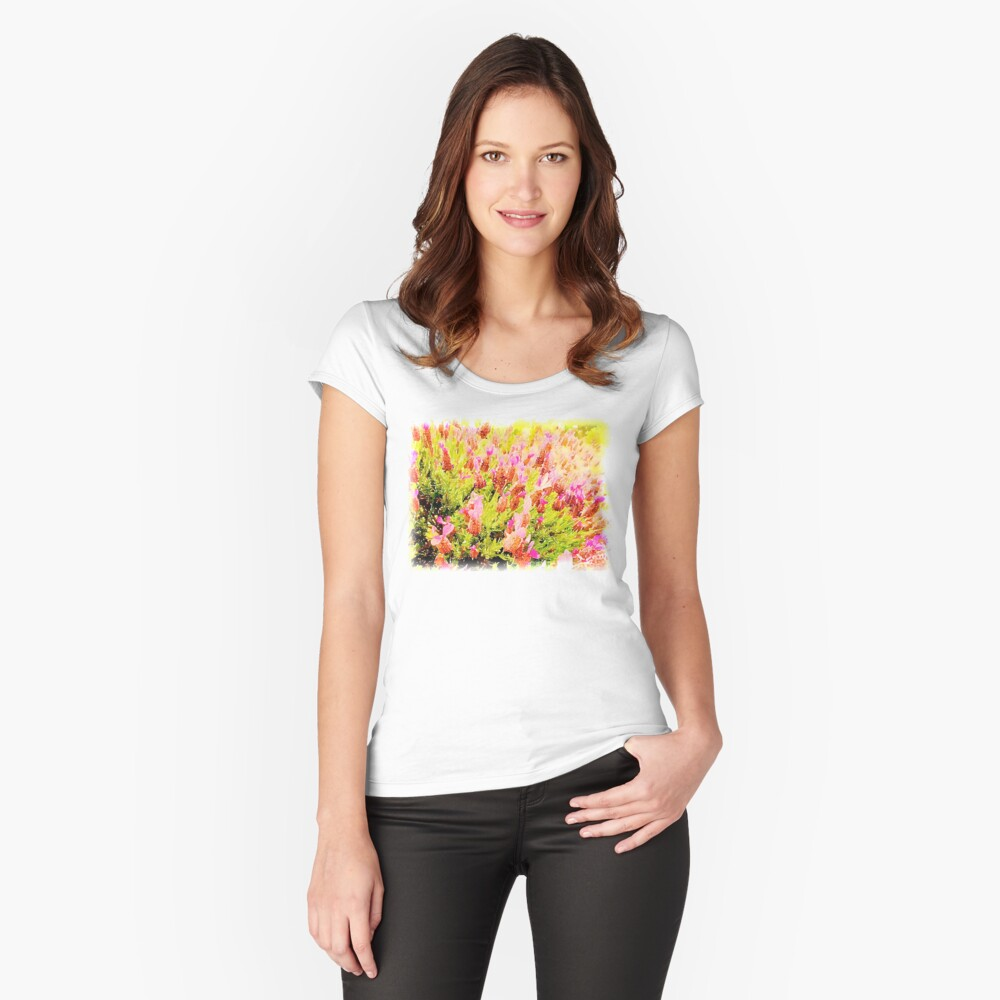 Lavender in Watercolor from A Gardener's Notebook Fitted Scoop T-Shirt